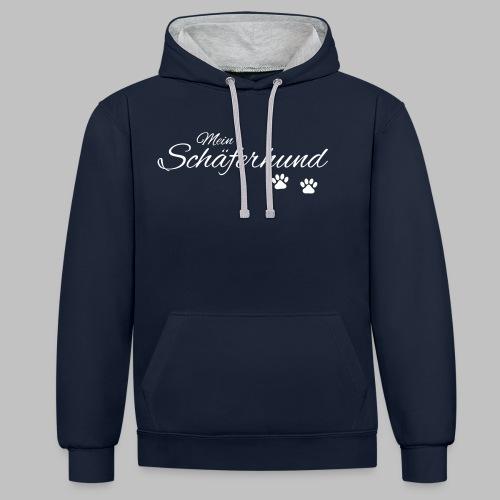Mein Schäferhund - T-Shirt - Hoodie - Pullover - Kontrast-Hoodie