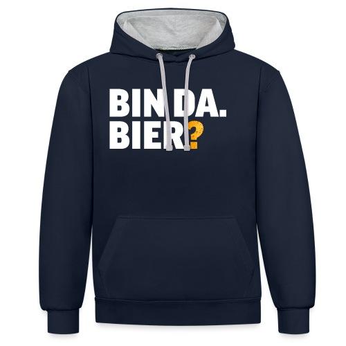 Lustig Bier Party Saufen Alkohol Geschenk - Kontrast-Hoodie