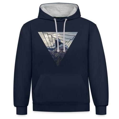 Matterhorn Zermatt Dreieck Design - Kontrast-Hoodie
