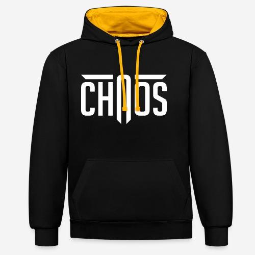 Chaos - Kontrast-Hoodie