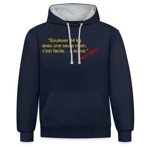 La Méthode Française humour 2 recto - Sweat-shirt contraste