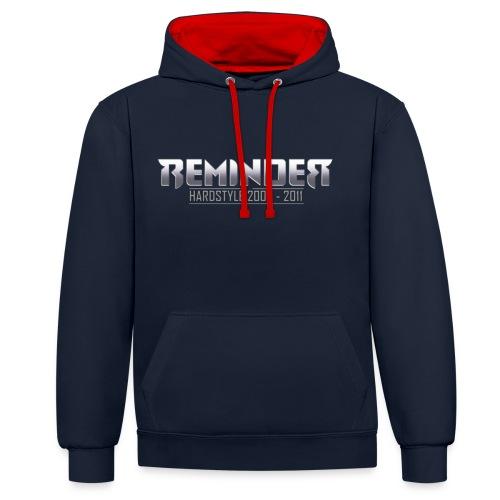 reminder logo 06 11 - Contrast hoodie
