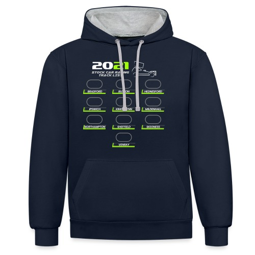 2021 Stock Car Racing track list - Contrast Colour Hoodie