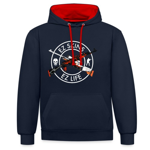 ex1 for black shirts - Contrast Colour Hoodie