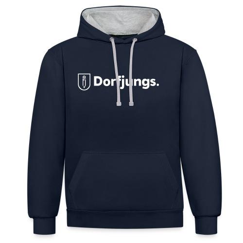 dj logo weiss png - Kontrast-Hoodie