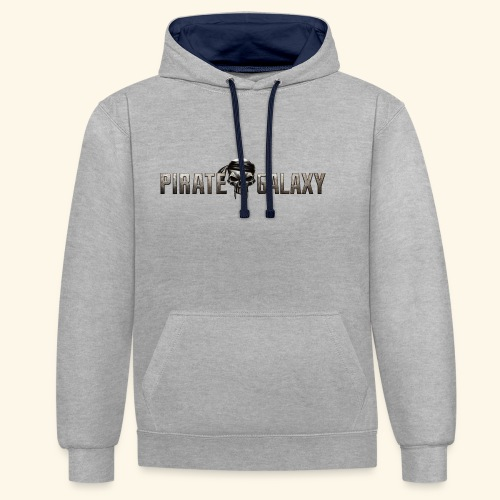 Pirate Galaxy Logo New - Contrast Colour Hoodie