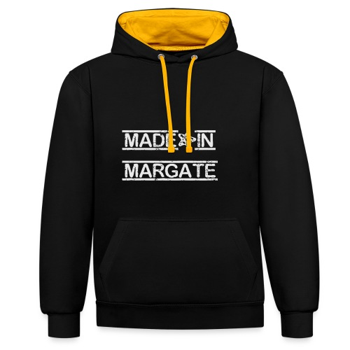 Made in Margate - White - Contrast Colour Hoodie