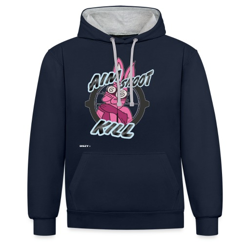Battle Royale Chicken Dinner Shooter Geschenk - Kontrast-Hoodie