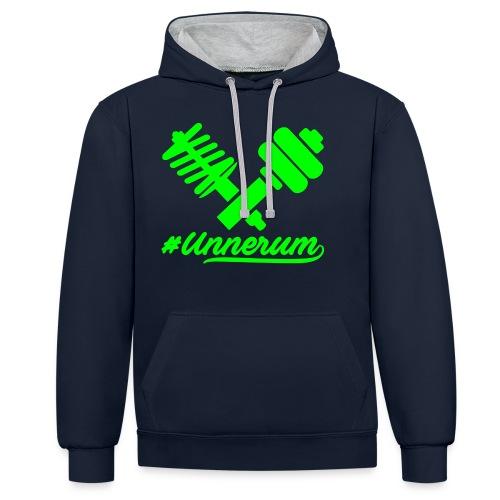 Logo #Unnerum - Kontrast-Hoodie