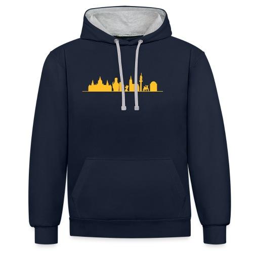 Skyline Hannover - Kontrast-Hoodie