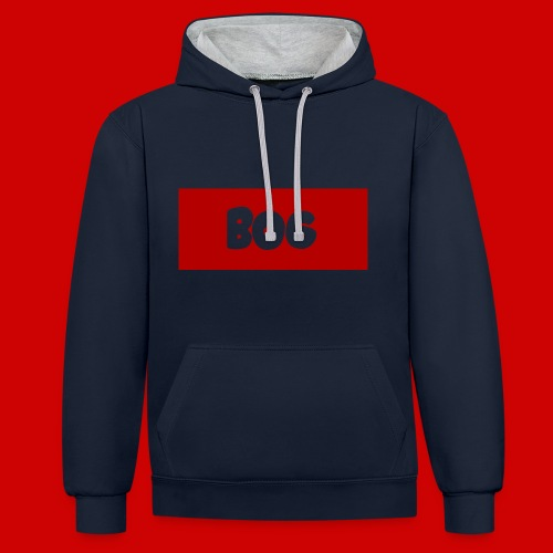 BogMerchDesign2 png - Contrast Colour Hoodie