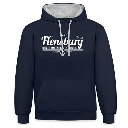 Flensburg - meine Heimat, mein Hafen, mein Kiez - Kontrast-Hoodie