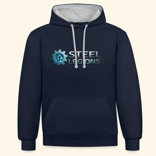 Steel Legions Logo - Contrast Colour Hoodie