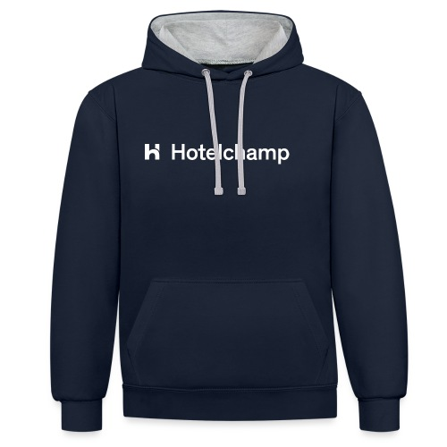 HOTELCHAMP WHITE - Contrast hoodie