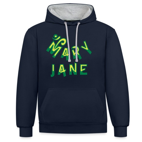 Mary Jane - Contrast Colour Hoodie