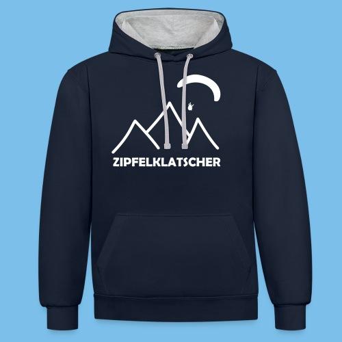 gleitschirmflieger paragliding geschenk T-shirt - Kontrast-Hoodie