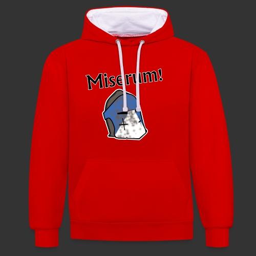 Warden Cytat Miserum! - Bluza z kapturem z kontrastowymi elementami