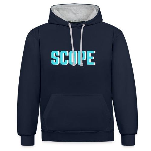 SCOPE BLUE - Contrast hoodie