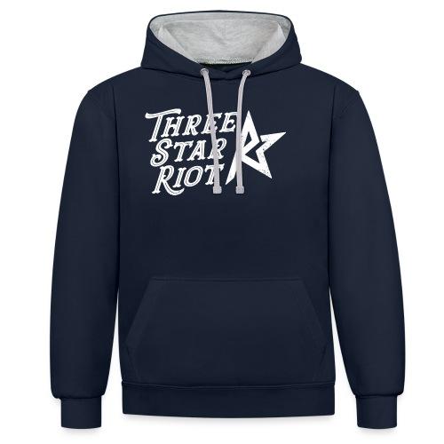 Three Star Riot logo vaalea - Kontrastihuppari