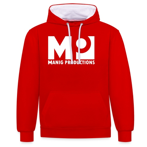 ManigProductions White Transparent png - Contrast Colour Hoodie