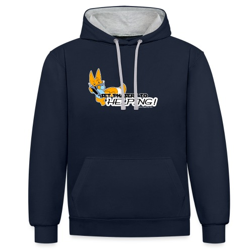Set Phasers to Helping - Contrast Colour Hoodie