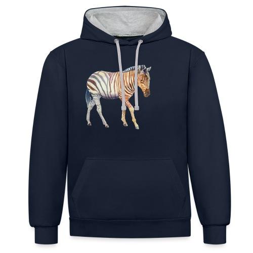 Zebra grants - Kontrast-hættetrøje