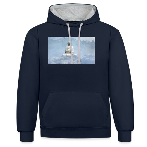 Buddha with the sky 3154857 - Contrast Colour Hoodie
