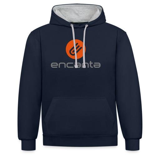 Encanta_Logo_Vector - Sudadera con capucha en contraste