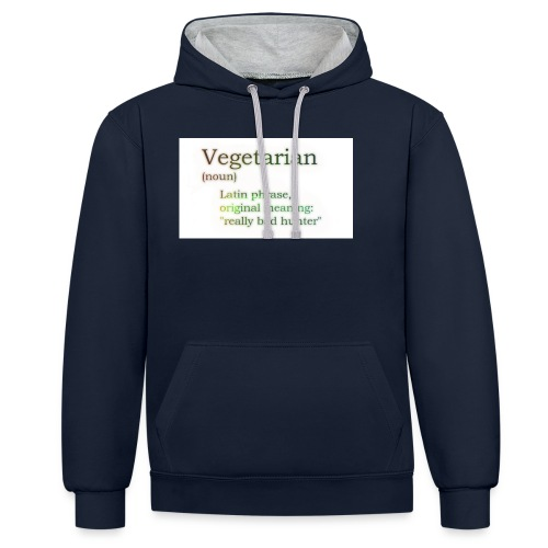funny-vegetarian - Contrast Colour Hoodie