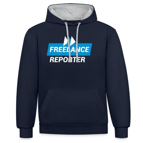 Freelance Reporter - Felpa con cappuccio bicromatica