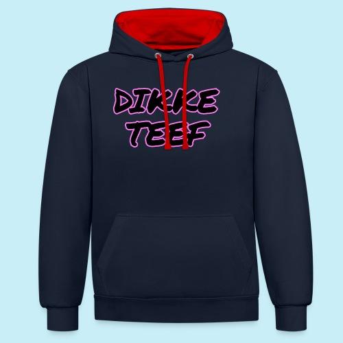 Dikke Teef - Sweat-shirt contraste