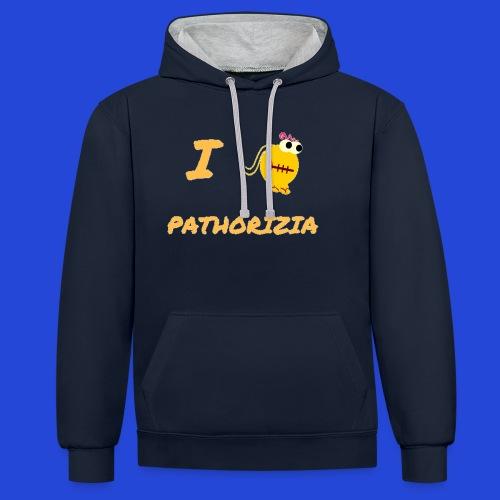 Love Pathorizia - Felpa con cappuccio bicromatica