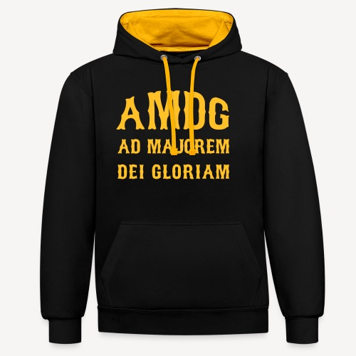 AMDG - Contrast Colour Hoodie