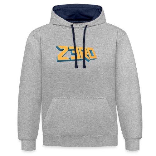 The Z3R0 Shirt - Contrast Colour Hoodie