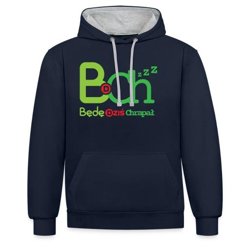 BDCh - Bluza z kapturem z kontrastowymi elementami