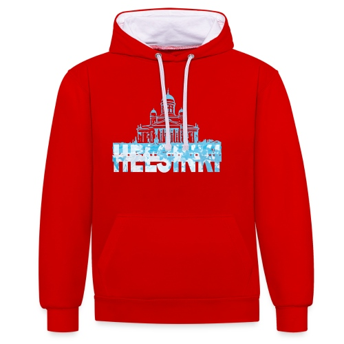 Helsinki Cathedral - Contrast Colour Hoodie