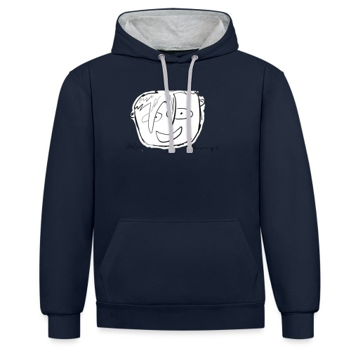 The Face Zoomed | Peter Eric Lang - Contrast Colour Hoodie