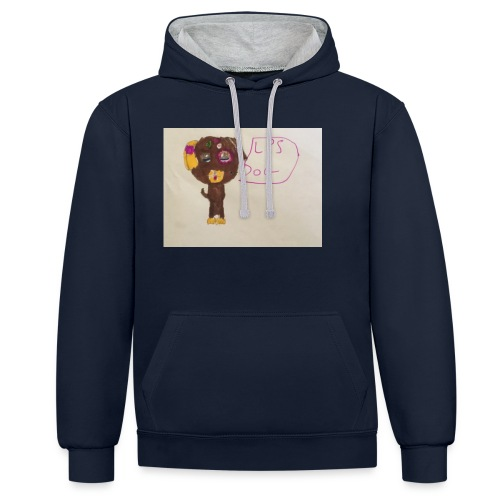 Little pets shop dog - Contrast Colour Hoodie