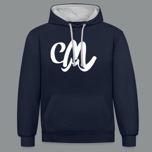 Kinder/ Tiener Shirt Unisex (voorkant) - Contrast hoodie