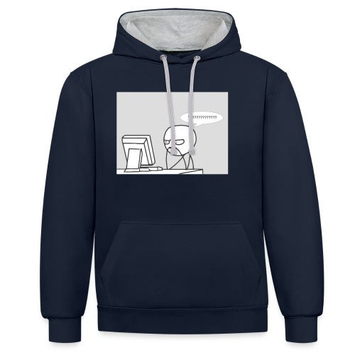 confused - Contrast Colour Hoodie