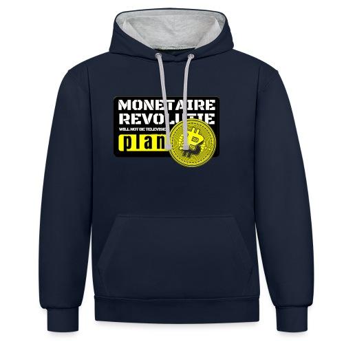 Bitcoin Revolutie - Contrast hoodie
