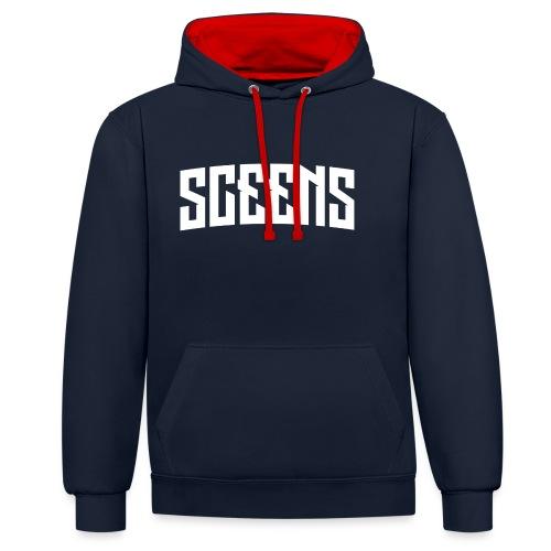 Sceens Premium T-Shirt Vrouwen - Contrast hoodie