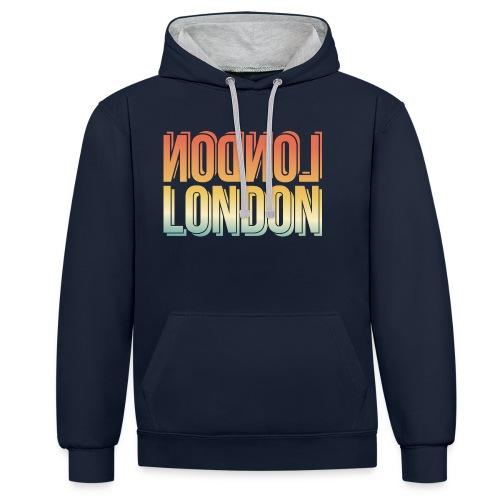 London Souvenir England Simple Name London - Kontrast-Hoodie
