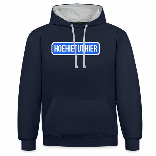 Hoehietuthier - Contrast hoodie