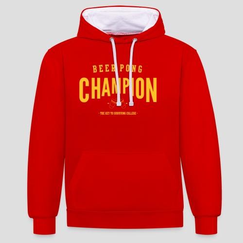 Beerpong Champion T-Shirt - Kontrast-Hoodie