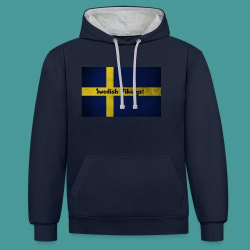 Swedish Vikings - Kontrastluvtröja
