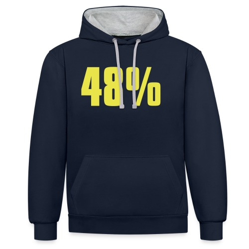 48% - Contrast Colour Hoodie