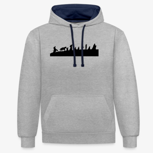 The Fellowship of the Ring - Contrast Colour Hoodie