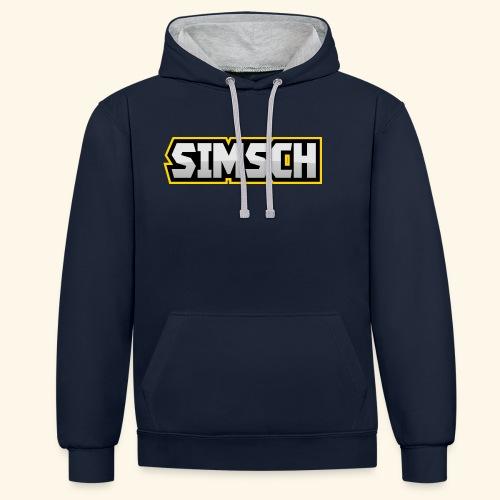 simsch - Kontrast-Hoodie