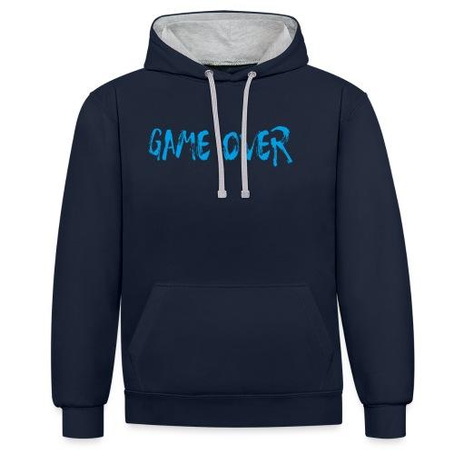 Game Over Nerd Gamer Shirt Geschenk - Kontrast-Hoodie